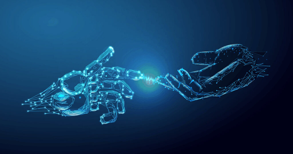 Deux mains qui se touchent pour illustrer l'automatisation XDR