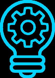 Pictogramme ampoule pour illustrer l'efficacité et l'ingiénerie intelligente dont la XDR Platform est le fruit